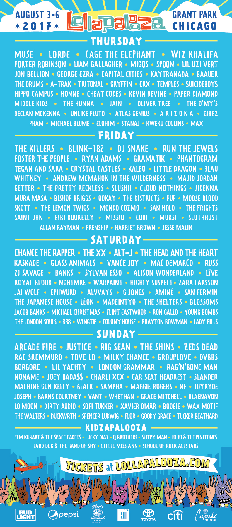 lolla 2k17 full lineup